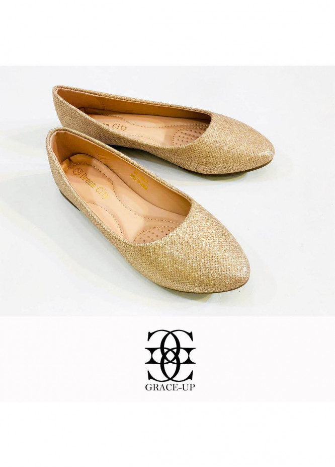 Grace Up Shoes Casual Style  Pumps  A305 GOLDEN
