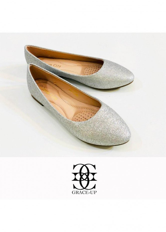 Grace Up Shoes Casual Style  Pumps  A305 SILVER