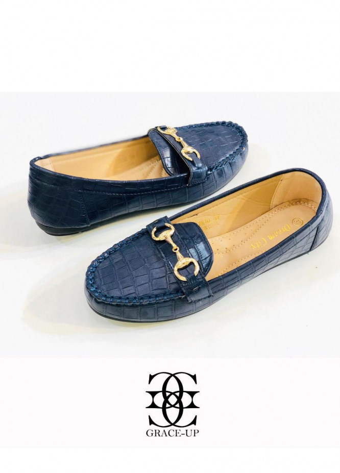 Grace Up Shoes Casual Style  Loofers  A307 Blue