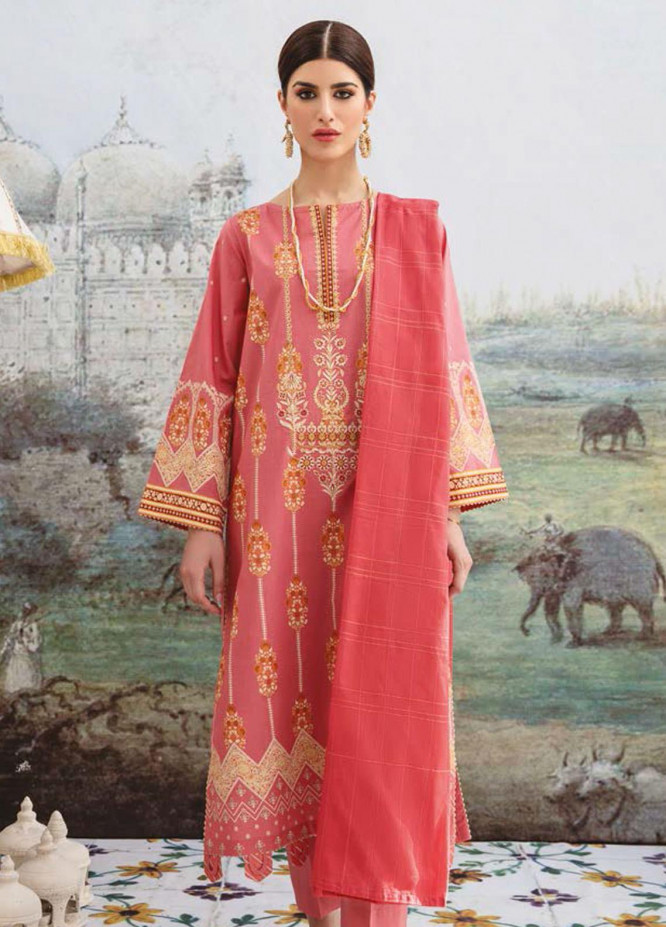 Guftagu by Orient Textiles Embroidered Lawn Suits Unstitched 3 Piece OT21G D-048-Pink - Festive Collection