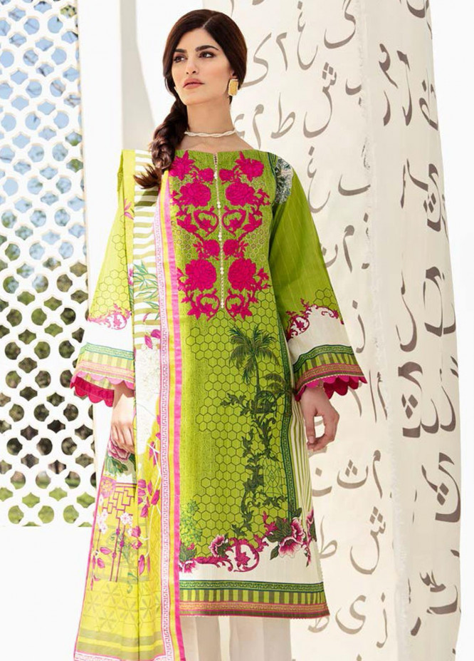 Guftagu by Orient Textiles Embroidered Lawn Suits Unstitched 2 Piece OT21G D-060-Green - Festive Collection
