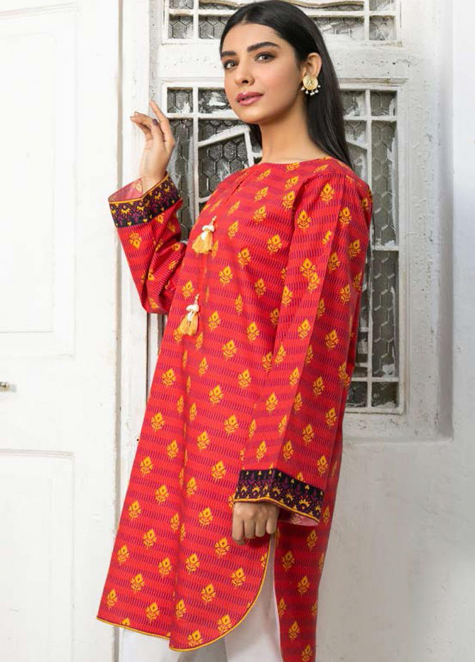 Guftagu by Orient Textiles Printed Lawn  Unstitched Kurties OT21G D-081-Red - Festive Collection