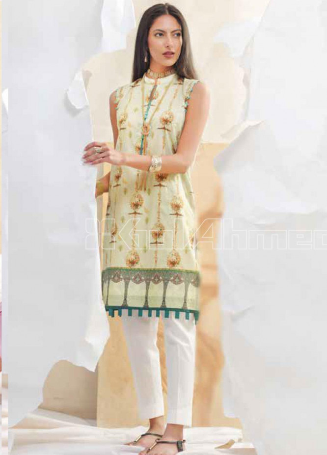 Gul Ahmed Printed Lawn Unstitched Kurties GA20BGC SL-842 - Spring / Summer Collection