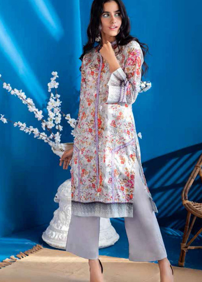 Gul Ahmed Printed Lawn  Unstitched Kurties GA21BG SL-937 B - Summer Collection