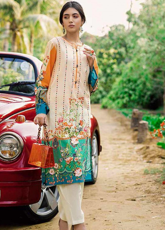 Gul Ahmed Printed Lawn  Unstitched Kurties GA21BG SL-870 - Summer Collection
