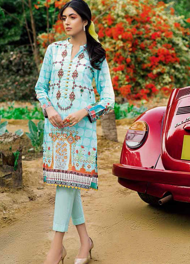 Gul Ahmed Printed Lawn  Unstitched Kurties GA21BG SL-871 - Summer Collection