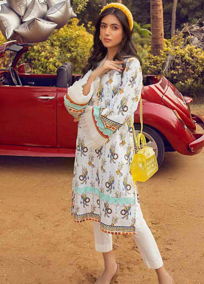 Gul Ahmed Printed Lawn  Unstitched Kurties GA21BG SL-872 - Summer Collection