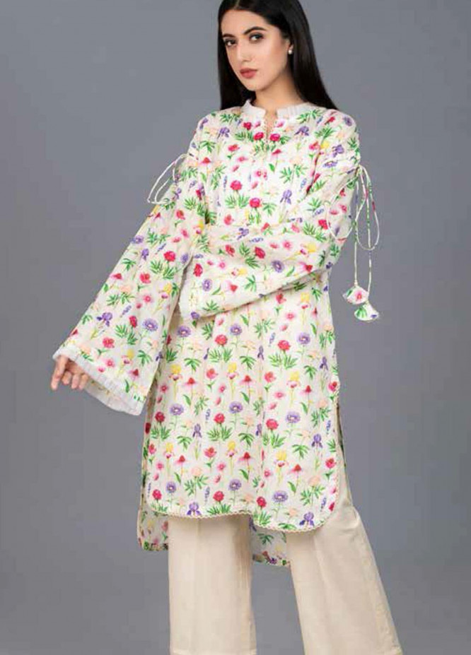 Gul Ahmed Printed Lawn  Unstitched Kurties GA21BG SL-877 - Summer Collection