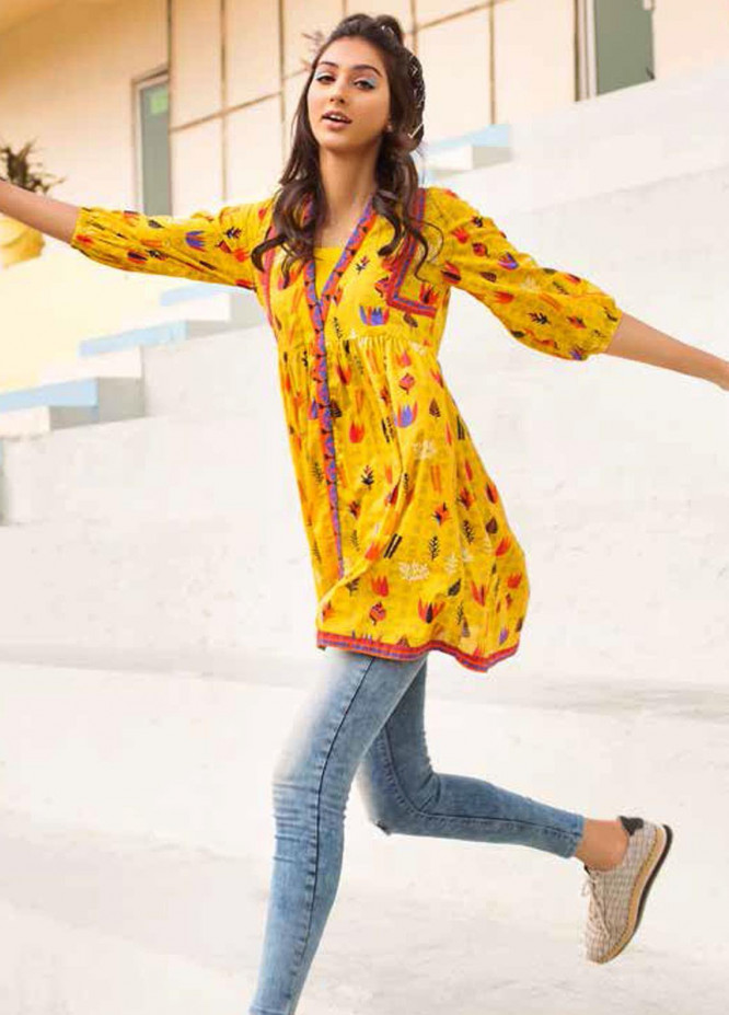 Gul Ahmed Printed Lawn  Unstitched Kurties GA21BG SL-921 A - Summer Collection
