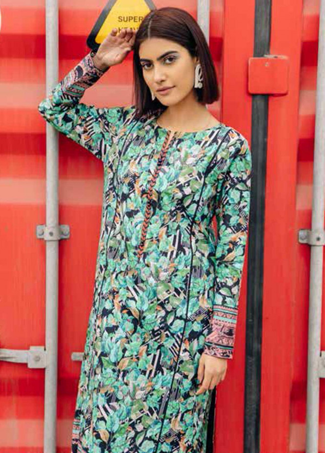Gul Ahmed Printed Lawn  Unstitched Kurties GA21BG SL-935 A - Summer Collection