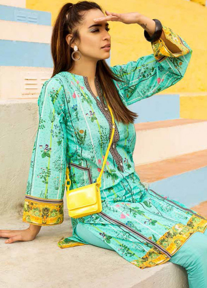 Gul Ahmed Printed Lawn  Unstitched Kurties GA21BG SL-936 A - Summer Collection