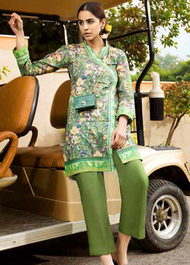 Gul Ahmed Printed Lawn  Unstitched Kurties GA21BG SL-939 B - Summer Collection