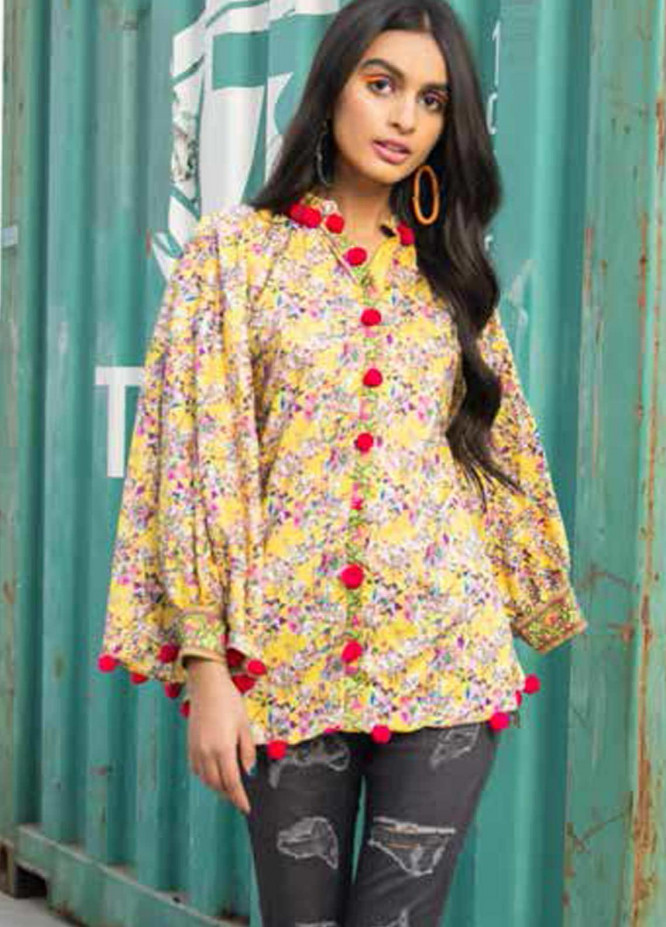 Gul Ahmed Printed Lawn  Unstitched Kurties GA21BG SL-942 A - Summer Collection