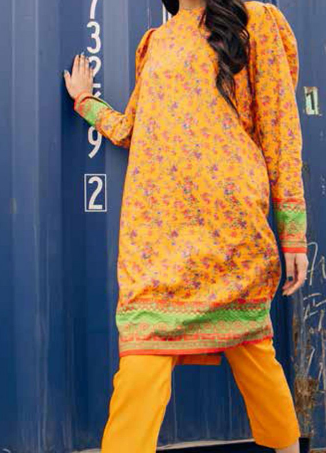 Gul Ahmed Printed Lawn  Unstitched Kurties GA21BG SL-971 A - Summer Collection