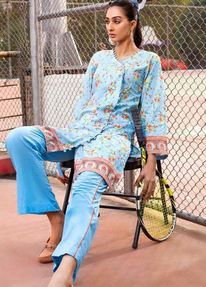 Gul Ahmed Printed Lawn  Unstitched Kurties GA21BG SL-973 A - Summer Collection