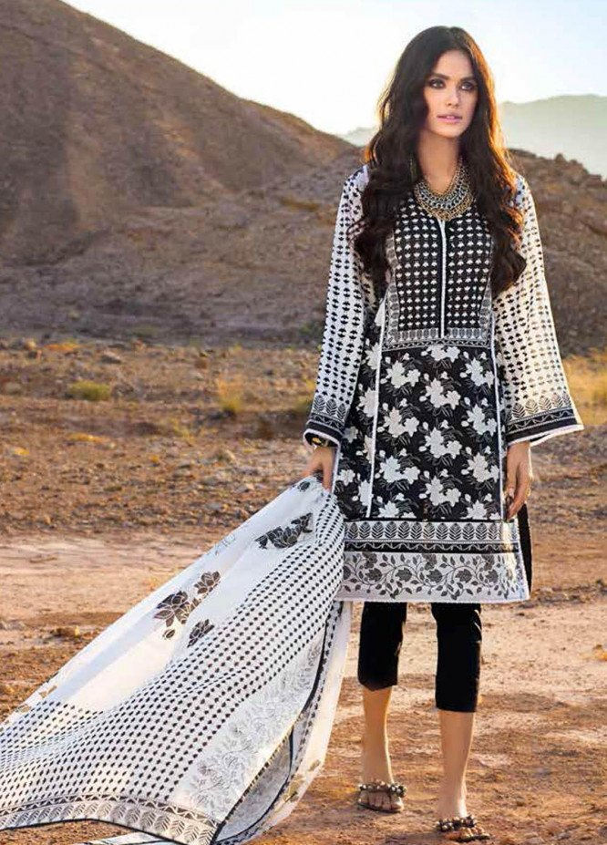 Gul Ahmed Printed Lawn Suits Unstitched 3 Piece GA21BL B76 - Summer Collection