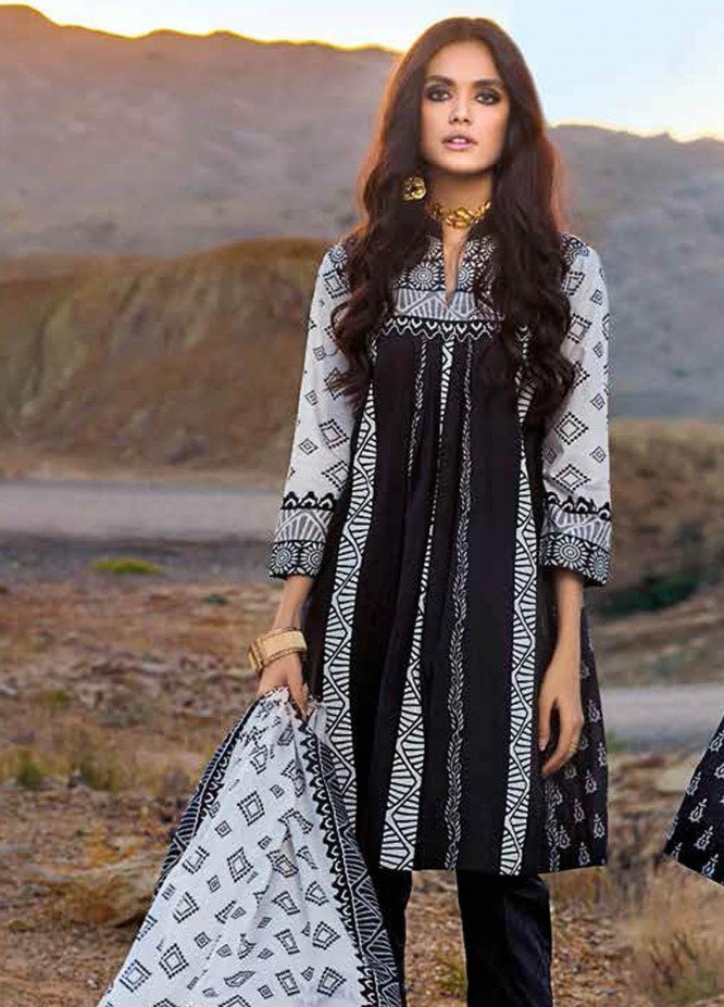 Gul Ahmed Printed Lawn Suits Unstitched 3 Piece GA21BL B77 - Summer Collection