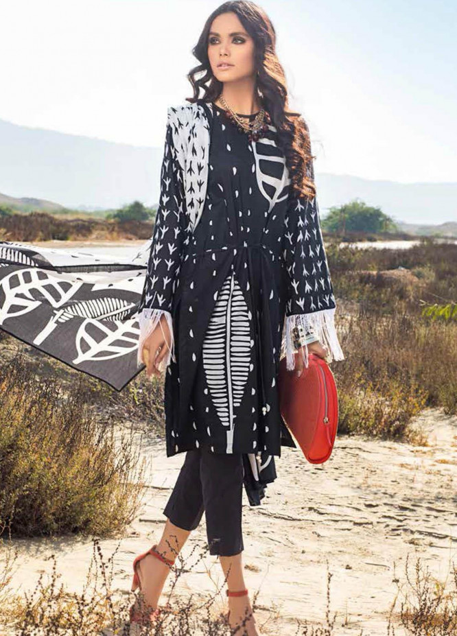 Gul Ahmed Printed Lawn Suits Unstitched 3 Piece GA21BL B80 - Summer Collection