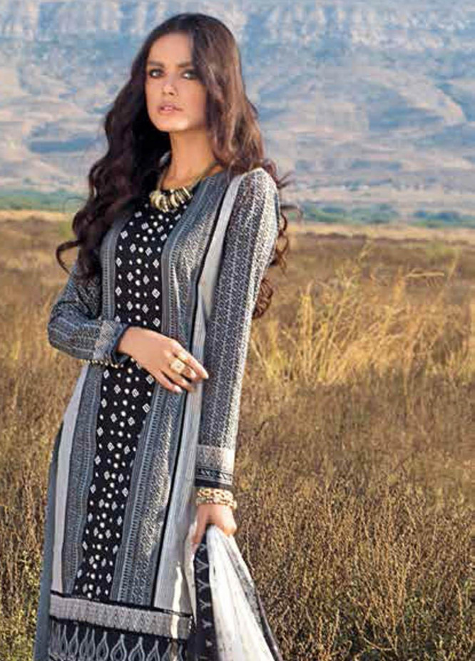 Gul Ahmed Printed Lawn Suits Unstitched 3 Piece GA21BL B82 - Summer Collection