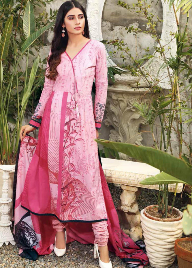 Gul Ahmed Printed Lawn Suits Unstitched 3 Piece GA21BL CL1027A - Summer Collection
