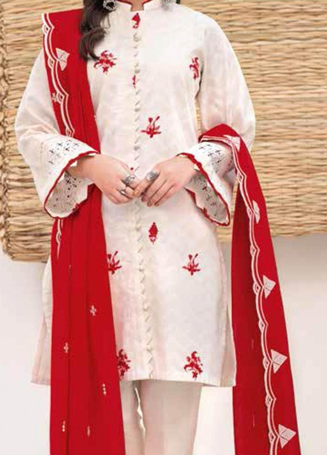 Gul Ahmed Embroidered Lawn Suits Unstitched 3 Piece GA21BL CL1063 - Summer Collection