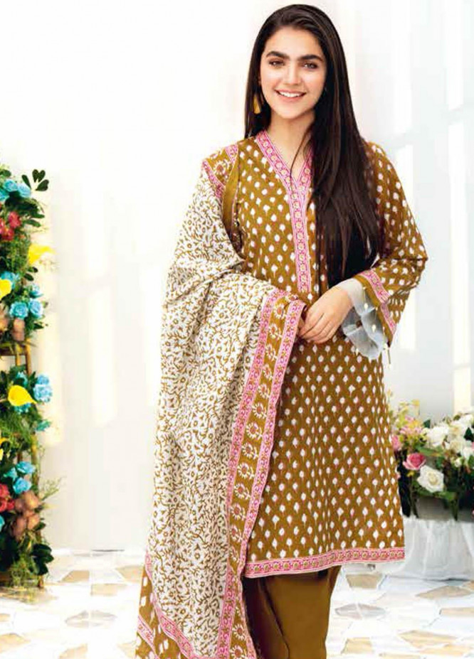 Gul Ahmed Printed Lawn Suits Unstitched 3 Piece GA21BL CL1065B - Summer Collection