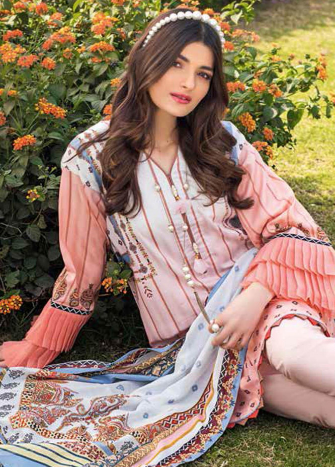 Gul Ahmed Printed Lawn Suits Unstitched 3 Piece GA21BL CL1072 - Summer Collection