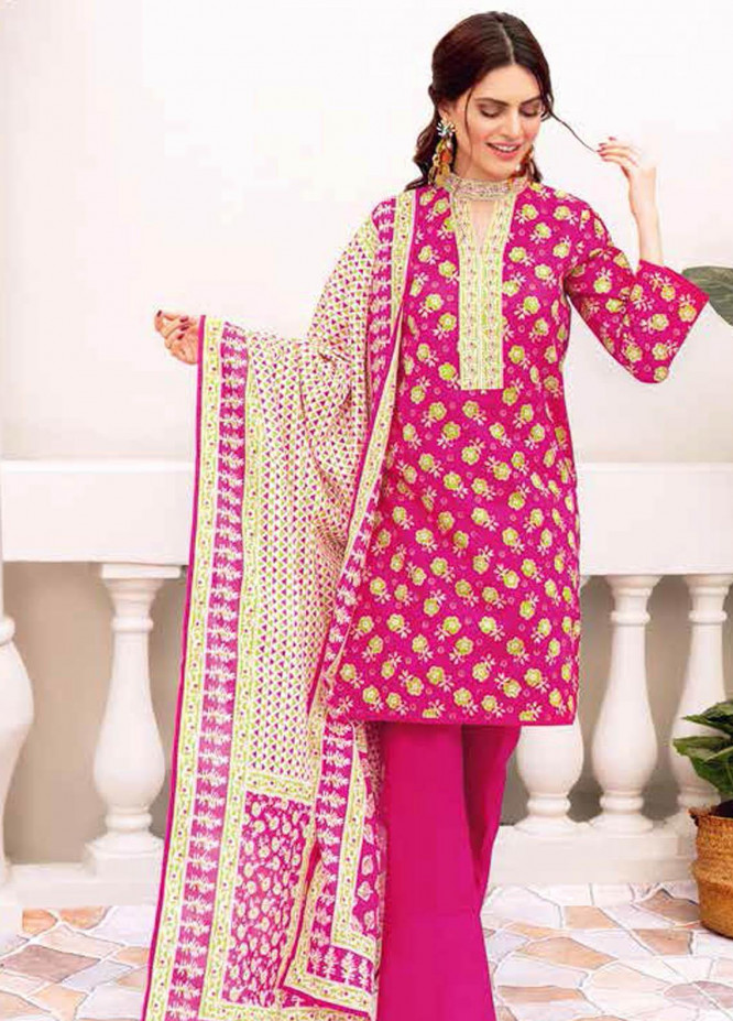 Gul Ahmed Printed Lawn Suits Unstitched 3 Piece GA21BL CL1078B - Summer Collection