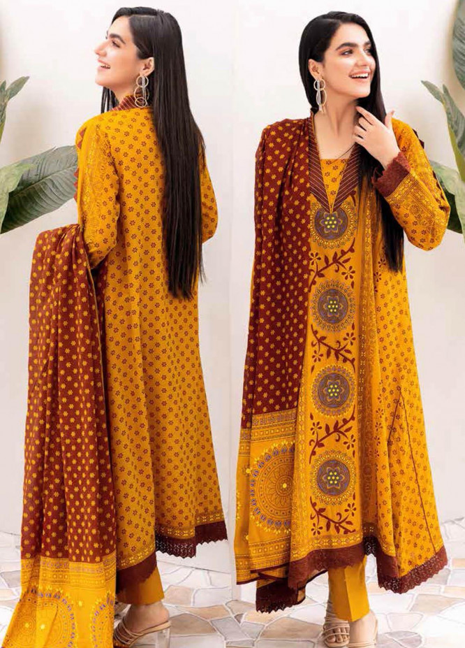 Gul Ahmed Printed Lawn Suits Unstitched 3 Piece GA21BL CL1084B - Summer Collection