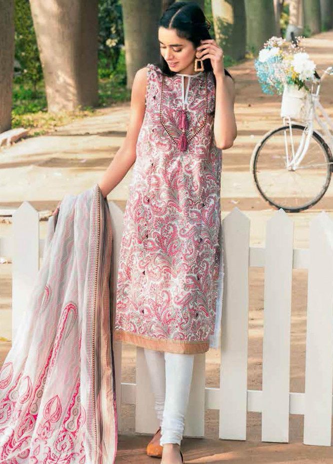 Gul Ahmed Printed Lawn Suits Unstitched 3 Piece GA21BL CL1113B - Summer Collection