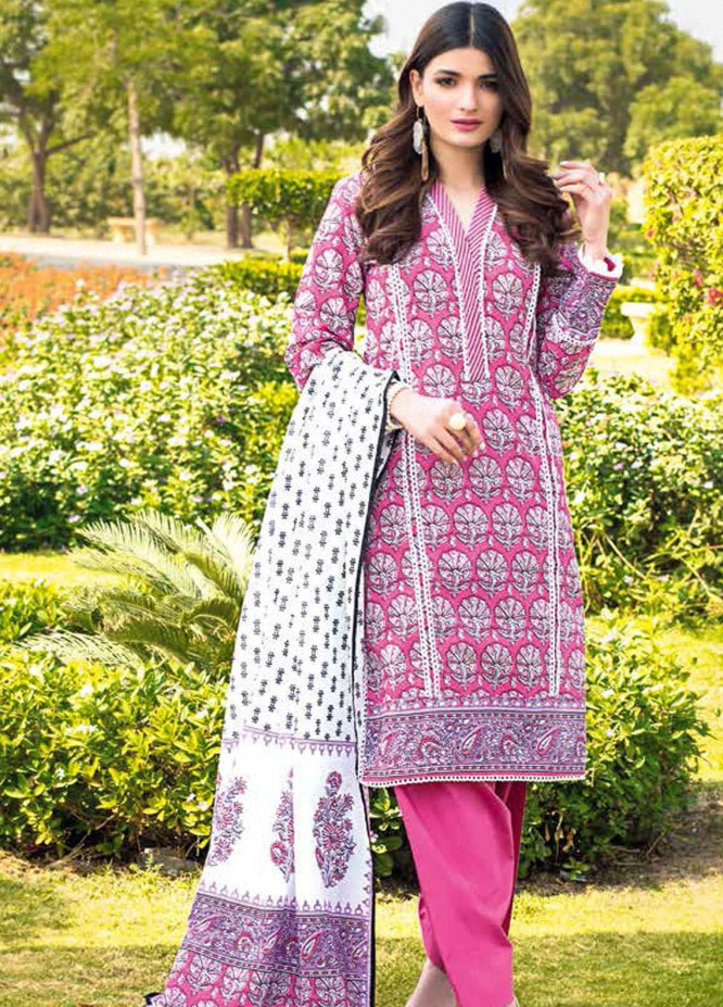 Gul Ahmed Printed Lawn Suits Unstitched 3 Piece GA21BL CL1139A - Summer Collection