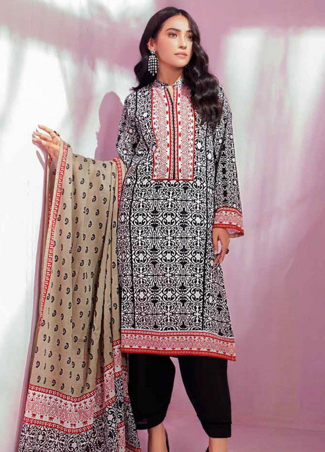 Gul Ahmed Printed Lawn Suits Unstitched 3 Piece GA21BL CL1142A - Summer Collection