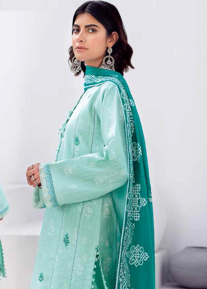 Gul Ahmed Embroidered Lawn Suits Unstitched 3 Piece GA21BL CL1152 - Summer Collection