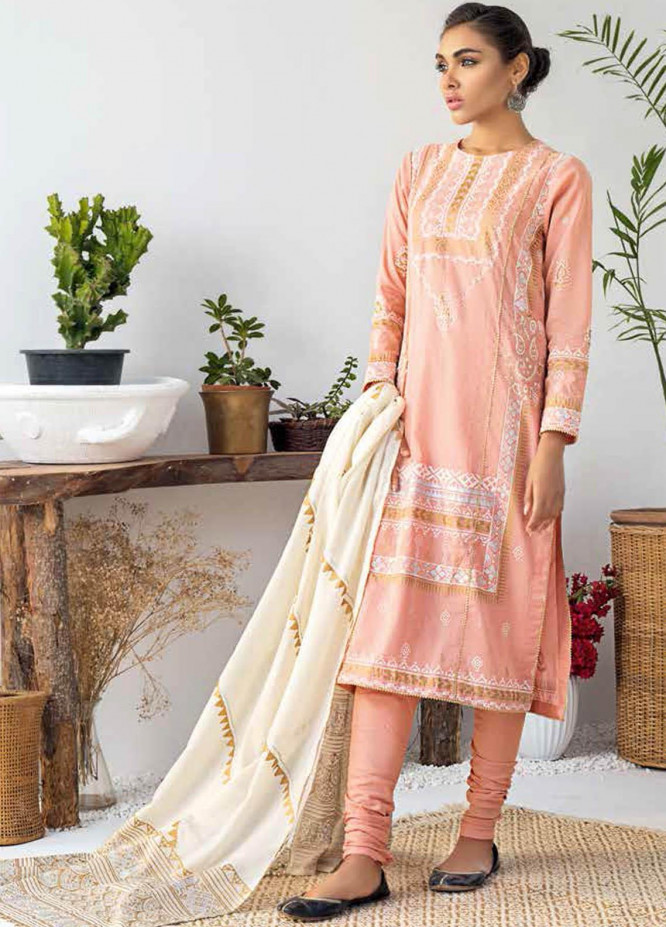 Gul Ahmed Printed Lawn Suits Unstitched 3 Piece GA21BL CL1157 - Summer Collection
