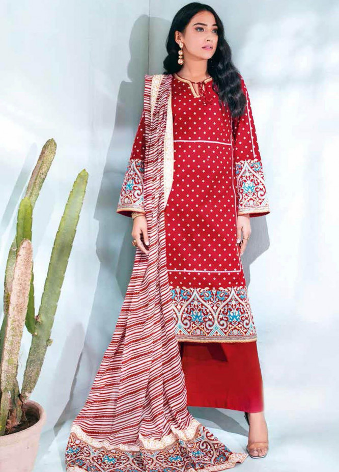 Gul Ahmed Printed Lawn Suits Unstitched 3 Piece GA21BL CL1161B - Summer Collection