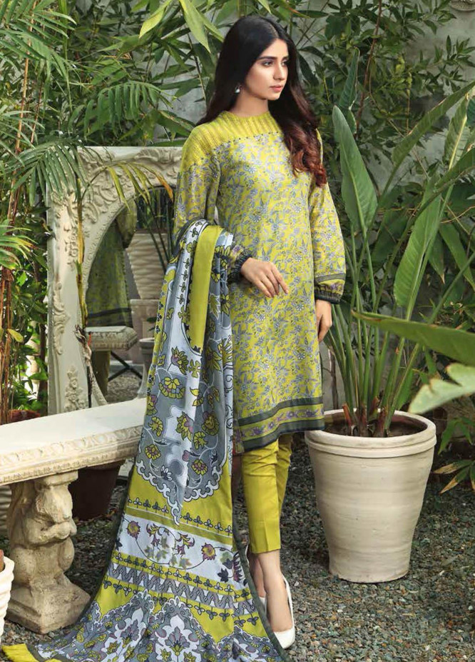 Gul Ahmed Printed Lawn Suits Unstitched 3 Piece GA21BL CL1168B - Summer Collection