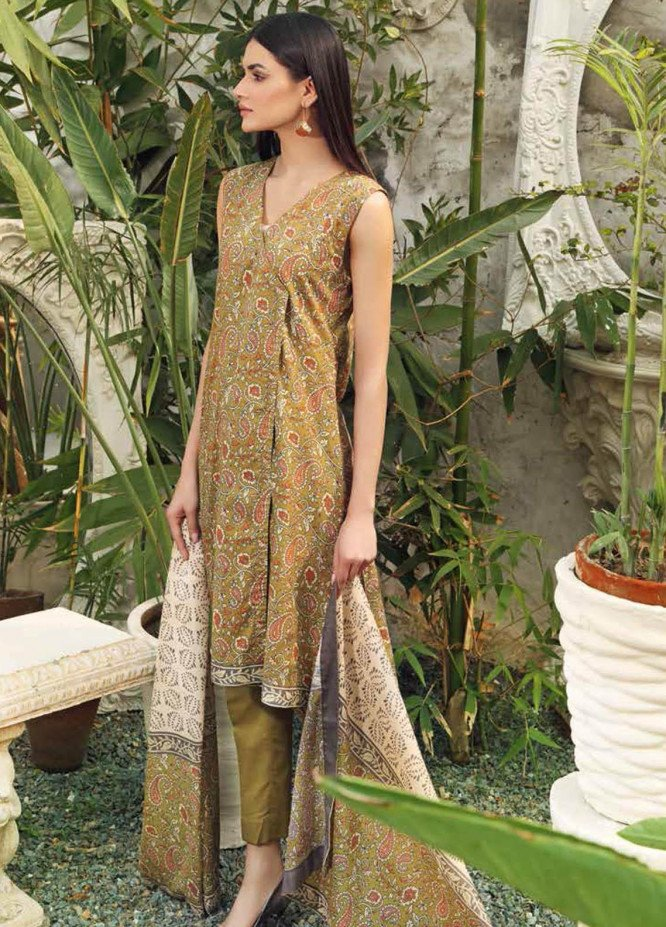 Gul Ahmed Printed Lawn Suits Unstitched 3 Piece GA21BL CL1184A - Summer Collection