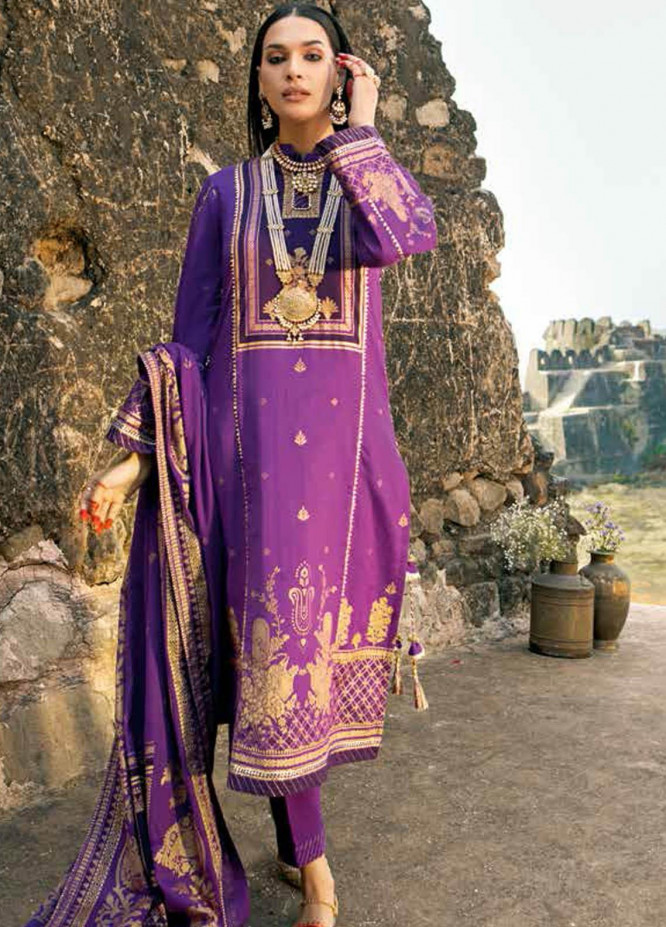 Gul Ahmed Printed Lawn Suits Unstitched 3 Piece GA21BL CL1186A - Summer Collection