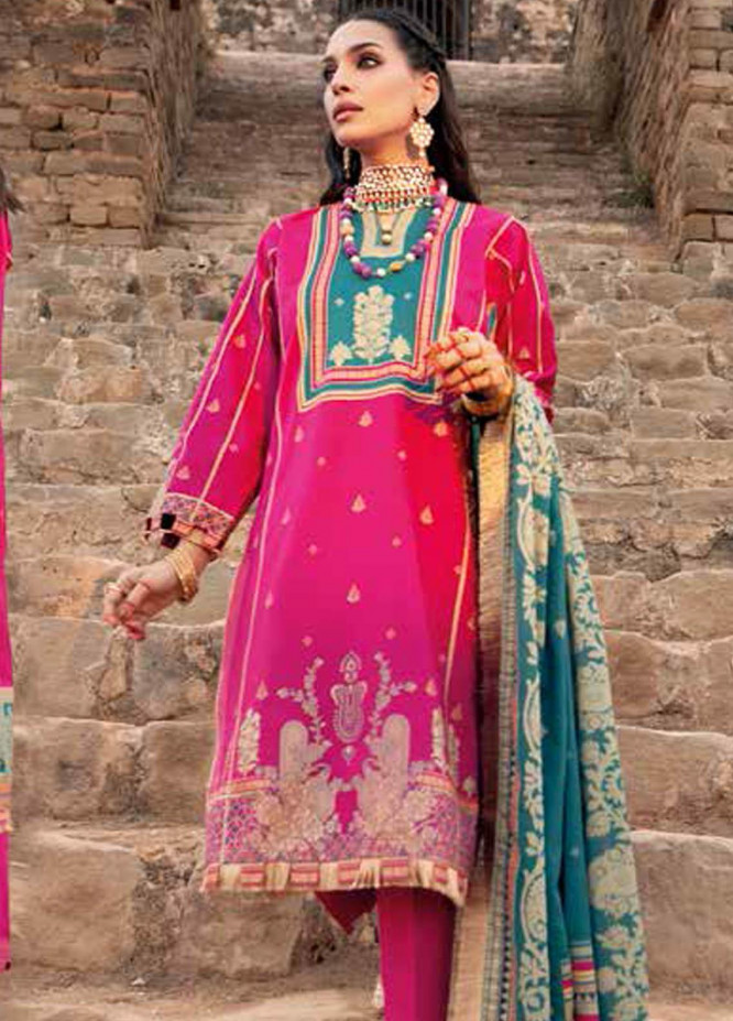Gul Ahmed Printed Lawn Suits Unstitched 3 Piece GA21BL CL1186B - Summer Collection