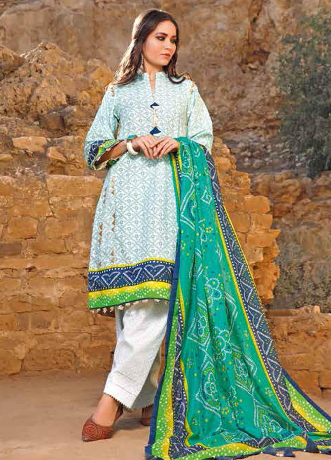 Gul Ahmed Printed Lawn Suits Unstitched 3 Piece GA21BL CL1192A - Summer Collection