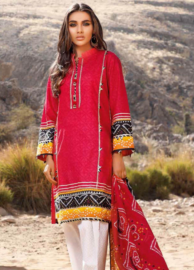 Gul Ahmed Printed Lawn Suits Unstitched 3 Piece GA21BL CL1192B - Summer Collection