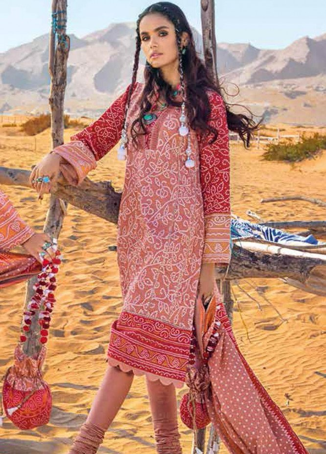 Gul Ahmed Printed Lawn Suits Unstitched 3 Piece GA21BL CL1208A - Summer Collection