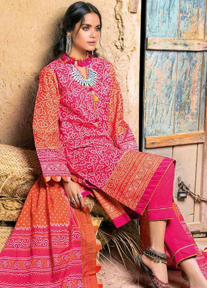 Gul Ahmed Printed Lawn Suits Unstitched 3 Piece GA21BL CL1208B - Summer Collection