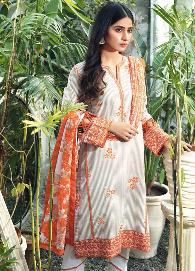Gul Ahmed Printed Lawn Suits Unstitched 3 Piece GA21BL CL1211A - Summer Collection