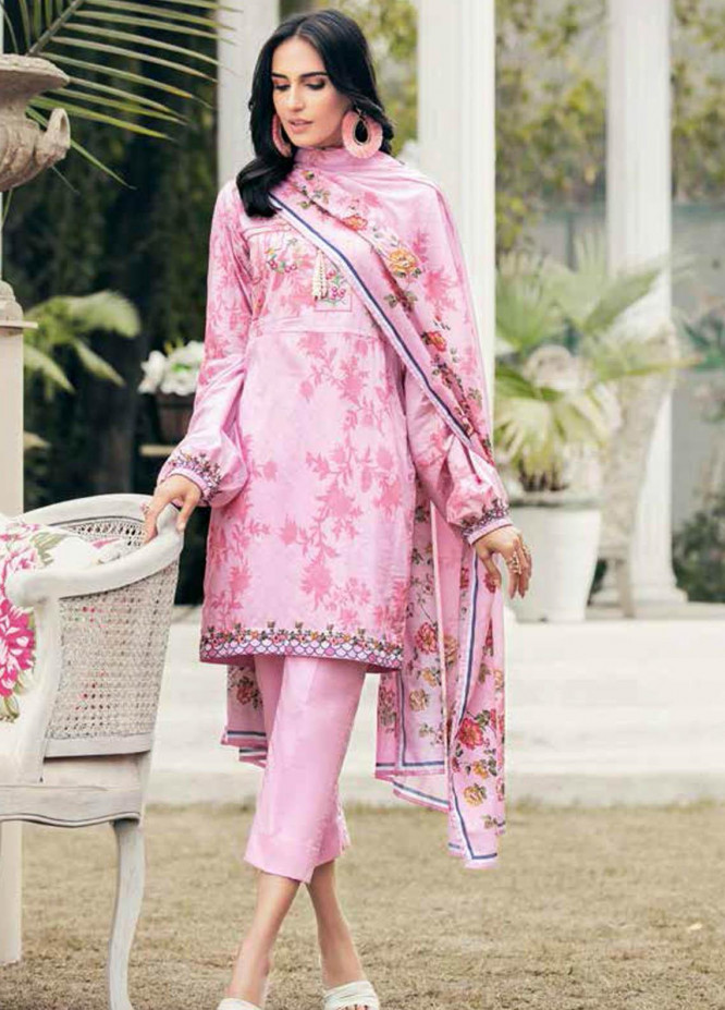 Gul Ahmed Embroidered Lawn Suits Unstitched 3 Piece GA21BL CL1216 - Summer Collection