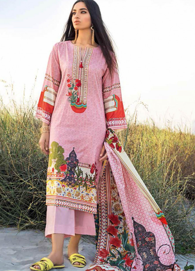 Gul Ahmed Printed Lawn Suits Unstitched 3 Piece GA21BL CL1252A - Summer Collection