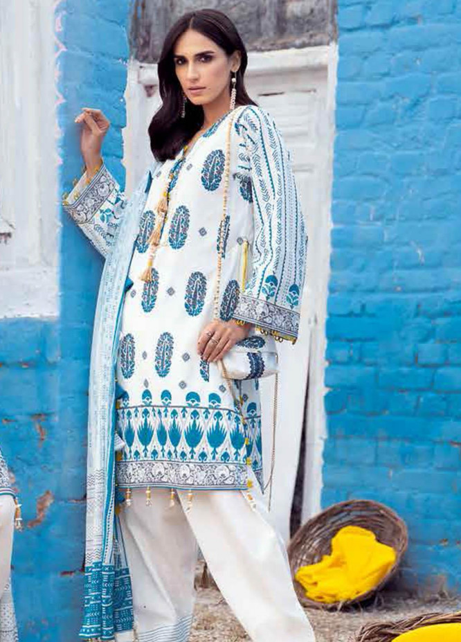 Gul Ahmed Printed Lawn Suits Unstitched 3 Piece GA21BL CL1258 - Summer Collection