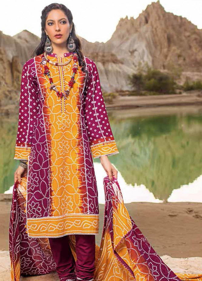 Gul Ahmed Printed Lawn Suits Unstitched 3 Piece GA21BL CL1321B - Summer Collection