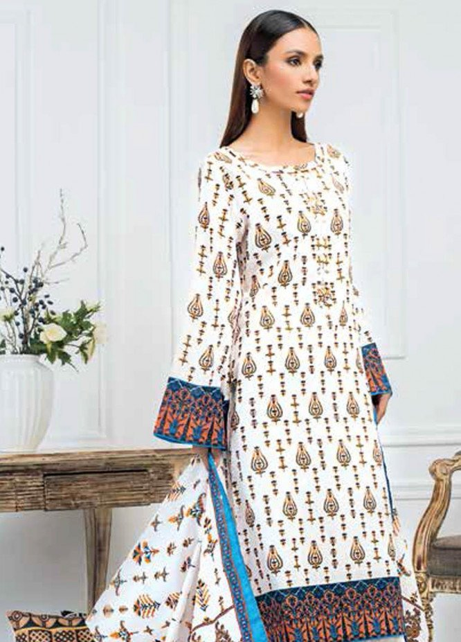 Gul Ahmed Printed Lawn Suits Unstitched 3 Piece GA21BL CL883A - Summer Collection