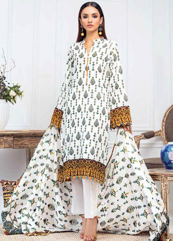 Gul Ahmed Printed Lawn Suits Unstitched 3 Piece GA21BL CL883B - Summer Collection